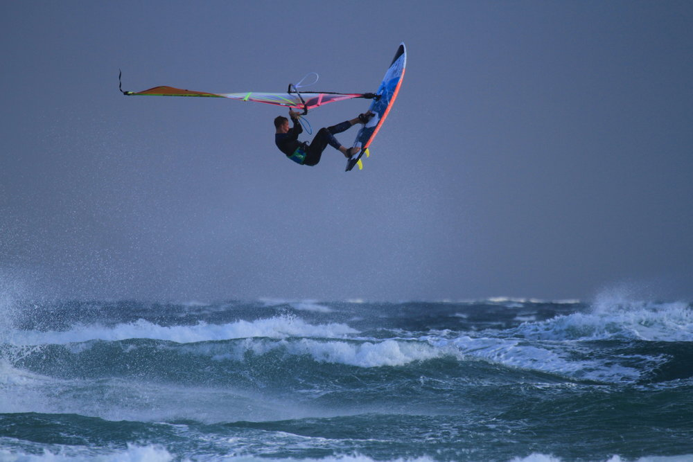 Finn Mellon, competing at Tiree Wave Classic 2017.