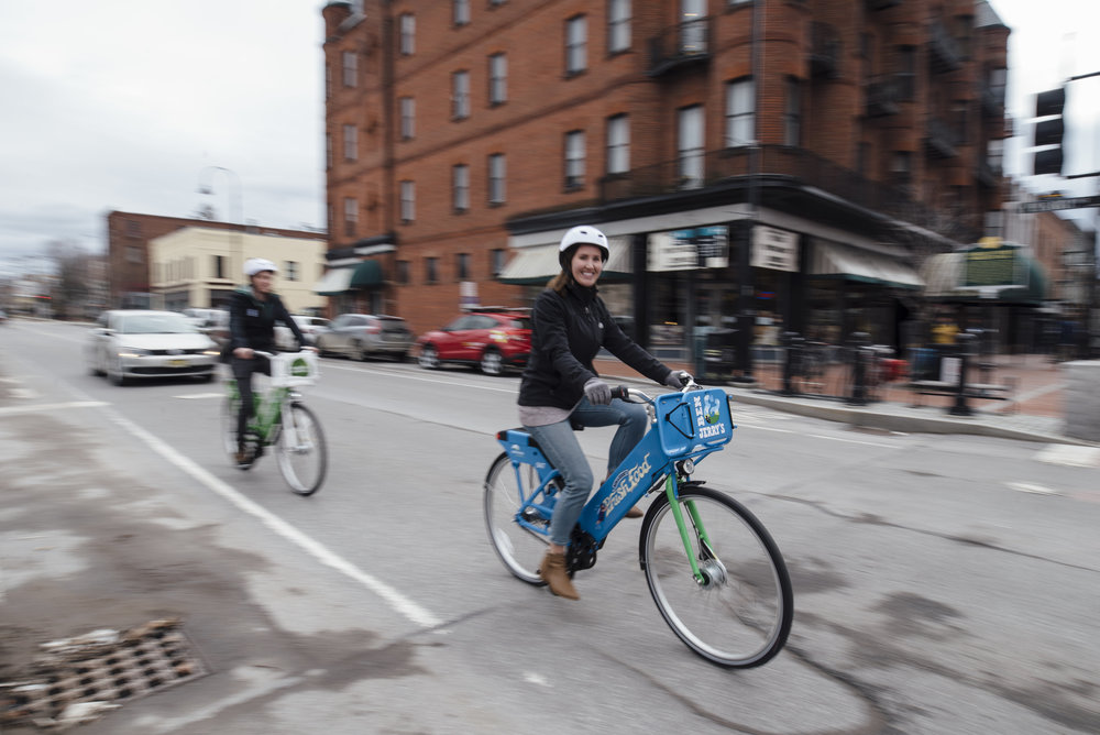 Greenride Bikeshare, launched in spring, 2018.  Photo: Christine Hill