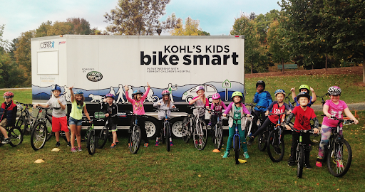 Local Motion's Bike Smart Trailers visit over 10,000 students in 85+ towns across Vermont each year so that the next generation can learn to ride safely and confidently.  Photo credit: Local Motion