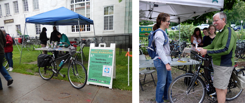 Local Motion brings valet bike parking to over 80 community festivals and events throughout Chittenden County each year.  Photo: Local Motion