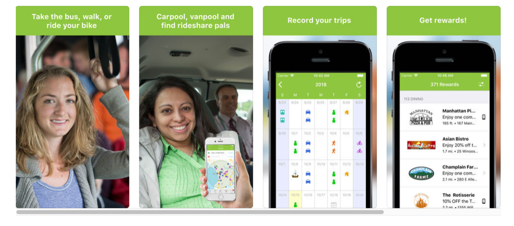 Reward yourself - Use Go!Vermont's app to find or share a ride, log transit miles and earn rewards