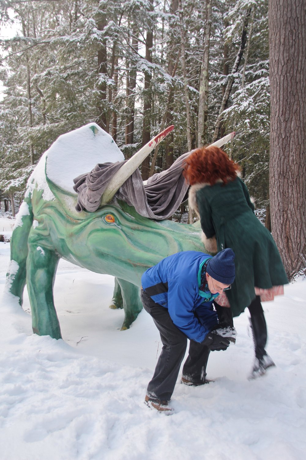 Behind the Scenese at Dinosaurs in the Snow (7).JPG