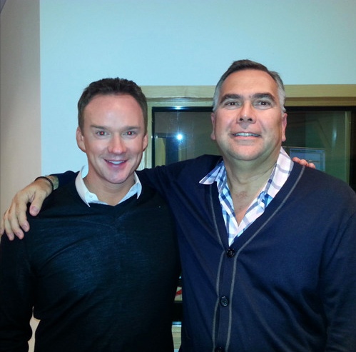 Ian with Russell Watson
