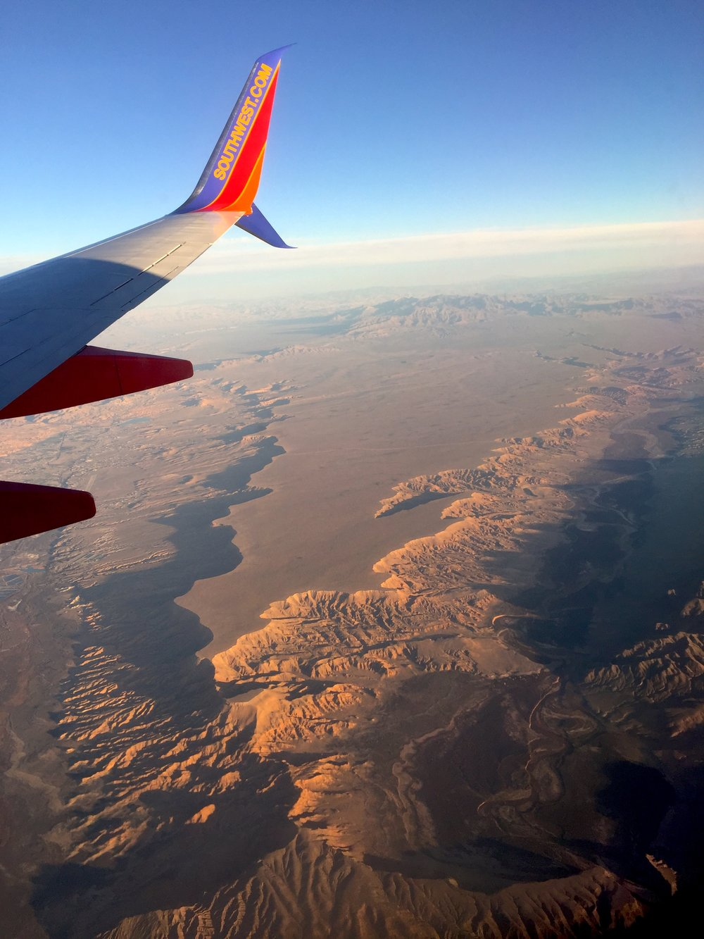 Flying over Las Vegas, NV