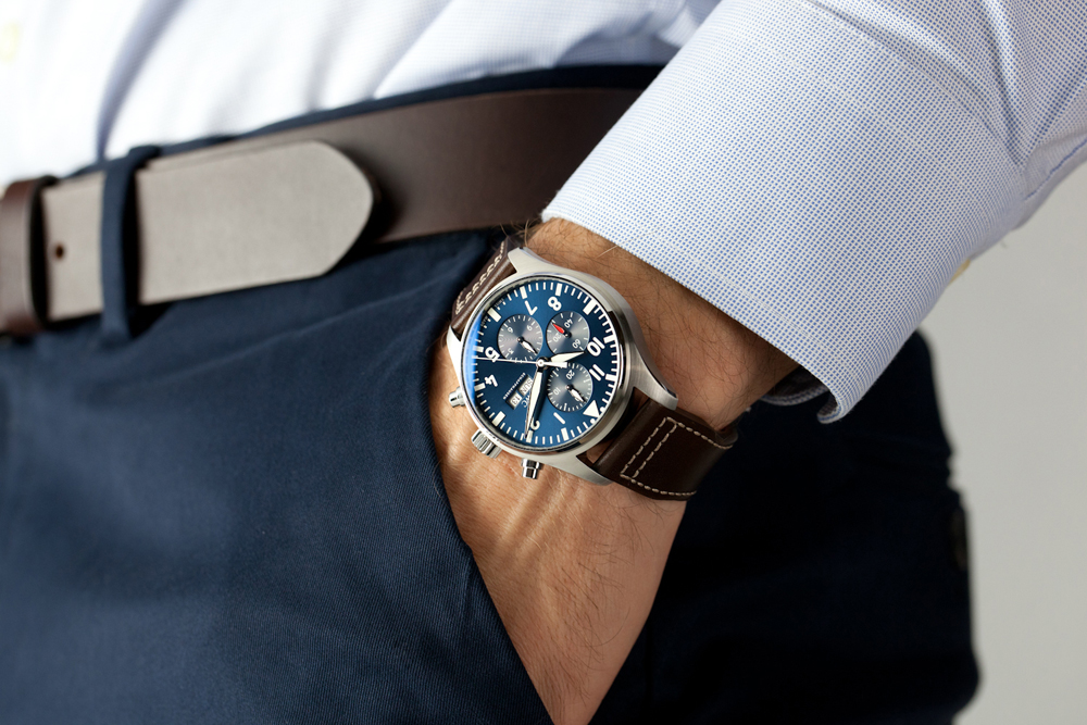 1 iwc pilot chrono leather wrist shot small.jpg