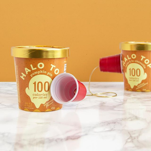 Honestly, walkie talkies would've been an easier way to communicate. Regardless, we don't have time to call everyone and tell them the good news: To honour national dessert day we're giving away 1 FREE pint of our limited edition Pumpkin Pie flavour to 50 lucky fans on Instagram!  To enter simply:  1.Follow @halotop_ca on IG  2.Like this post  3.Tag a friend (as many as you like - must be in separate comments to qualify as separate entries). Entries are open from Sunday, October 14 at 9am (EST) until Monday October 15 at 11:59pm (EST). The winners will be selected at random on Tuesday Oct 16. Winners will be announced on our IG Stories on Tuesday Oct 16 and notified by DM. This prize draw is not affiliated with Instagram. Winners must be the age of majority in their province/territory and reside in Canada (excluding Quebec). Terms apply [see link in bio for more details].
