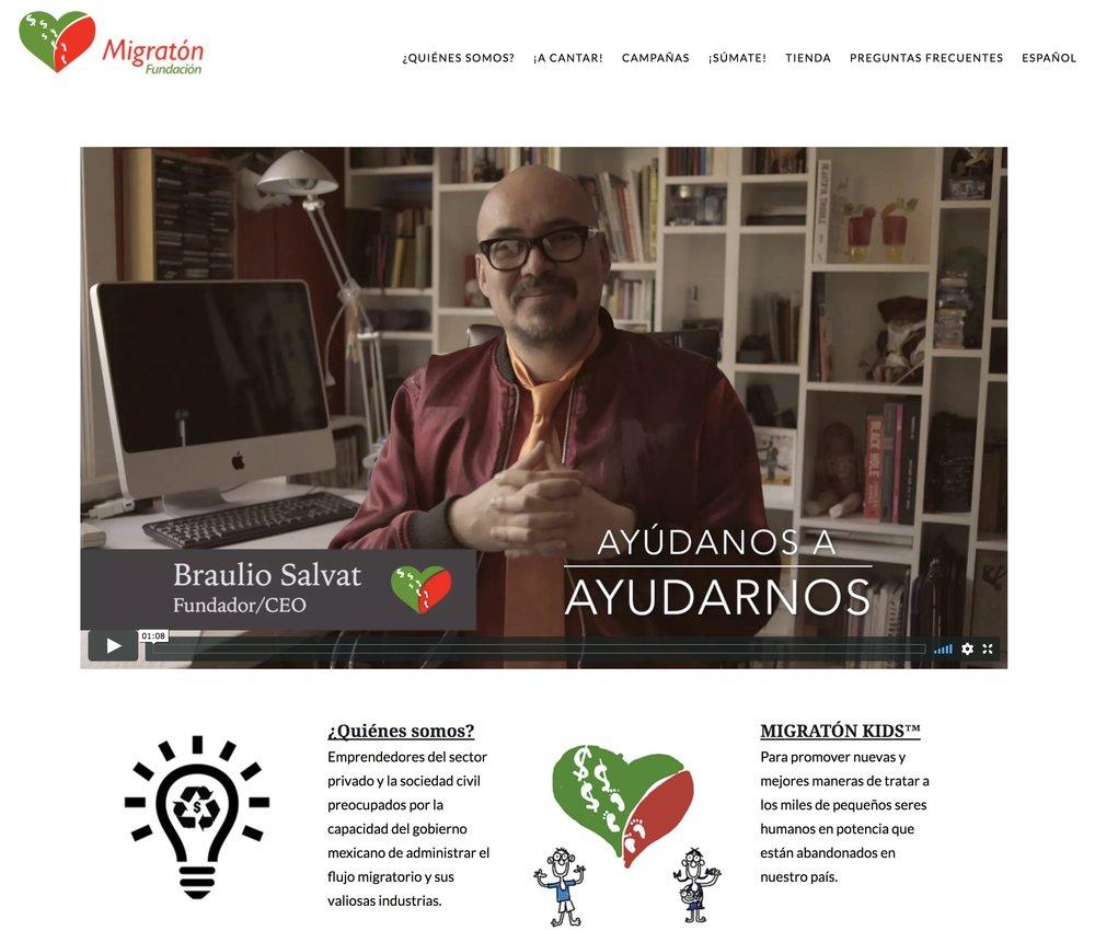 Migratón México website