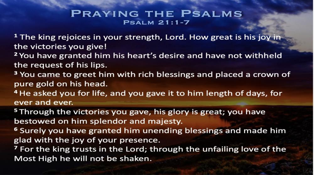 Psalm 21 (Scripture)