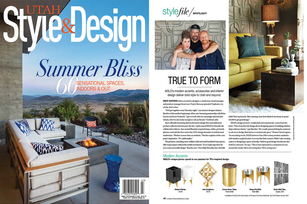 Utah Style & Design - Summer Issue 2016