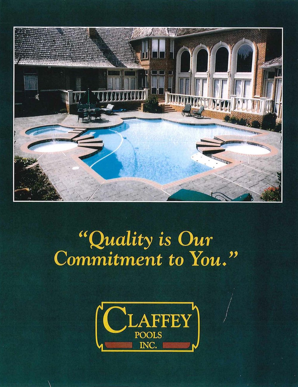 1989 - Paul hired his first non-family employee, Jim Reynolds.Pools by Paul Claffey constructed their 100th pool.