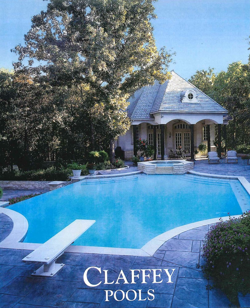 1995 - Claffey Pools moved to its first out-of-home location at 923 S. Church Street in Grapevine. Addition of even more non-family members.Claffey Pools constructed their 1,000th pool.