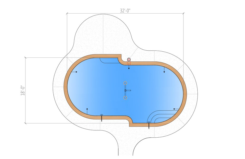 Modern Straight Line Pool Design