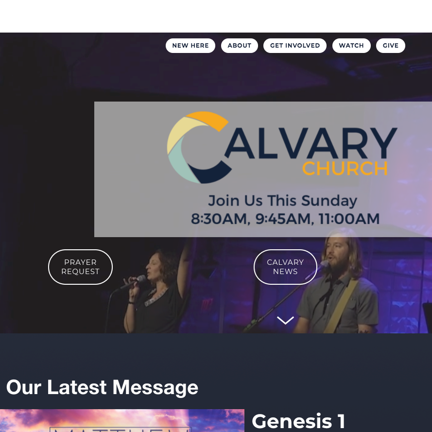 A new look - We're so excited to announce that our website has been fully redesigned from the ground up!calvarychurchfl.com has been tailored to reach our new guests so that they can easily find the information they want while meeting the growing needs of our congregation.Let us know what you think by posting a comment below.