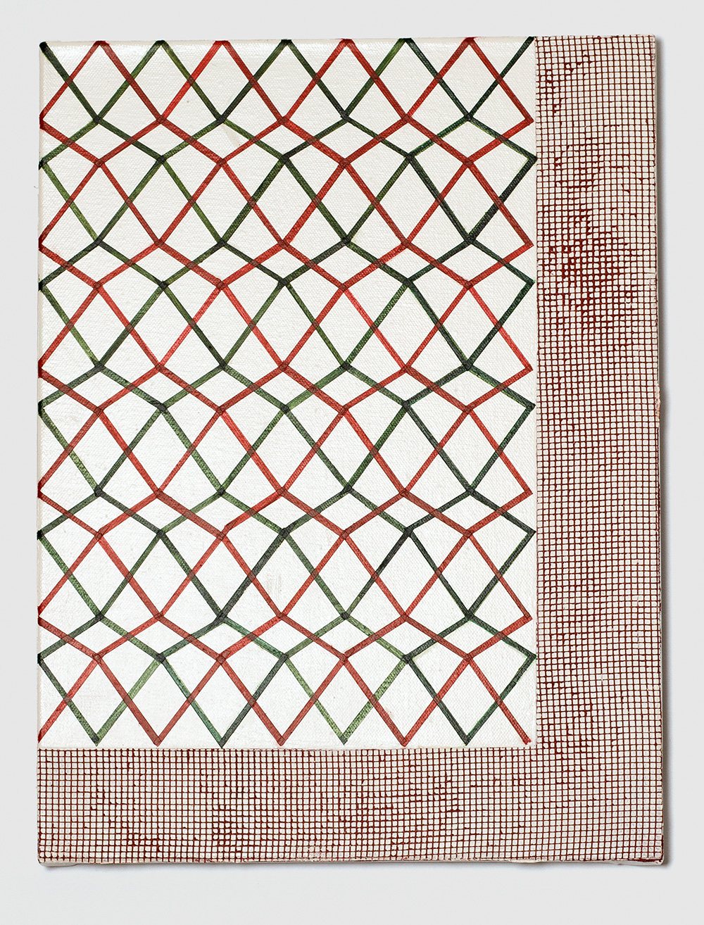 Adia Wahid   Background Noise , 2017  Acrylic on Canvas  40cm x 30cm