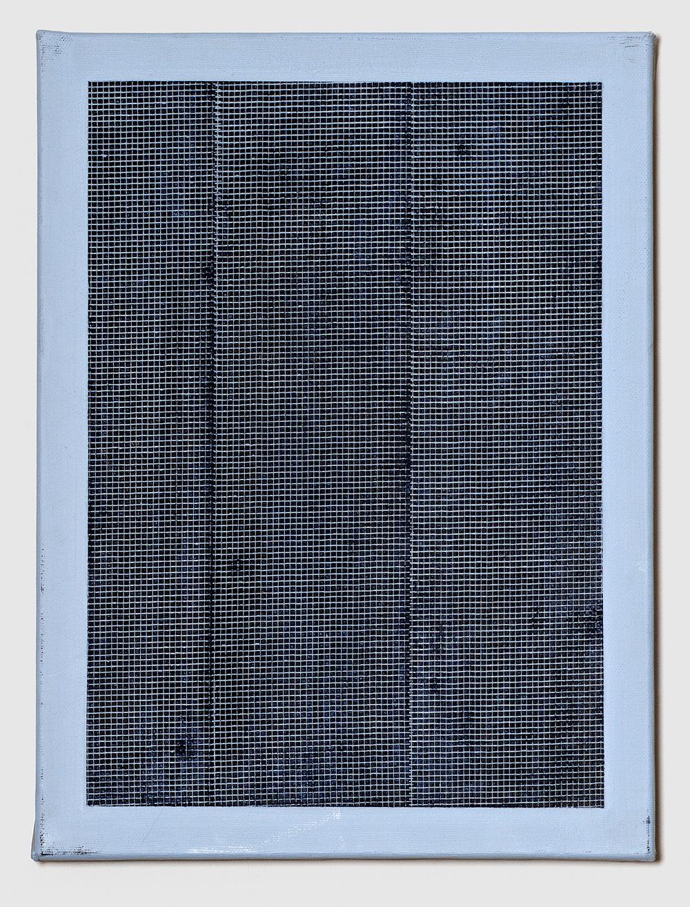 Adia Wahid   Untitled Blue II , 2016  Acrylic over Canvas  40cm x 30cm