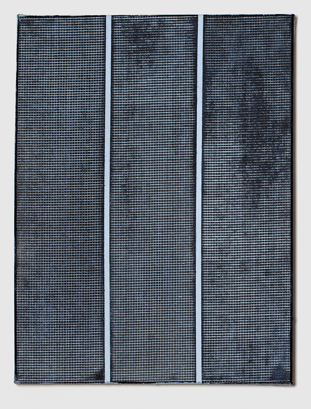 Adia Wahid   Untitled Blue I , 2016  Acrylic on Canvas  40cm x 30cm
