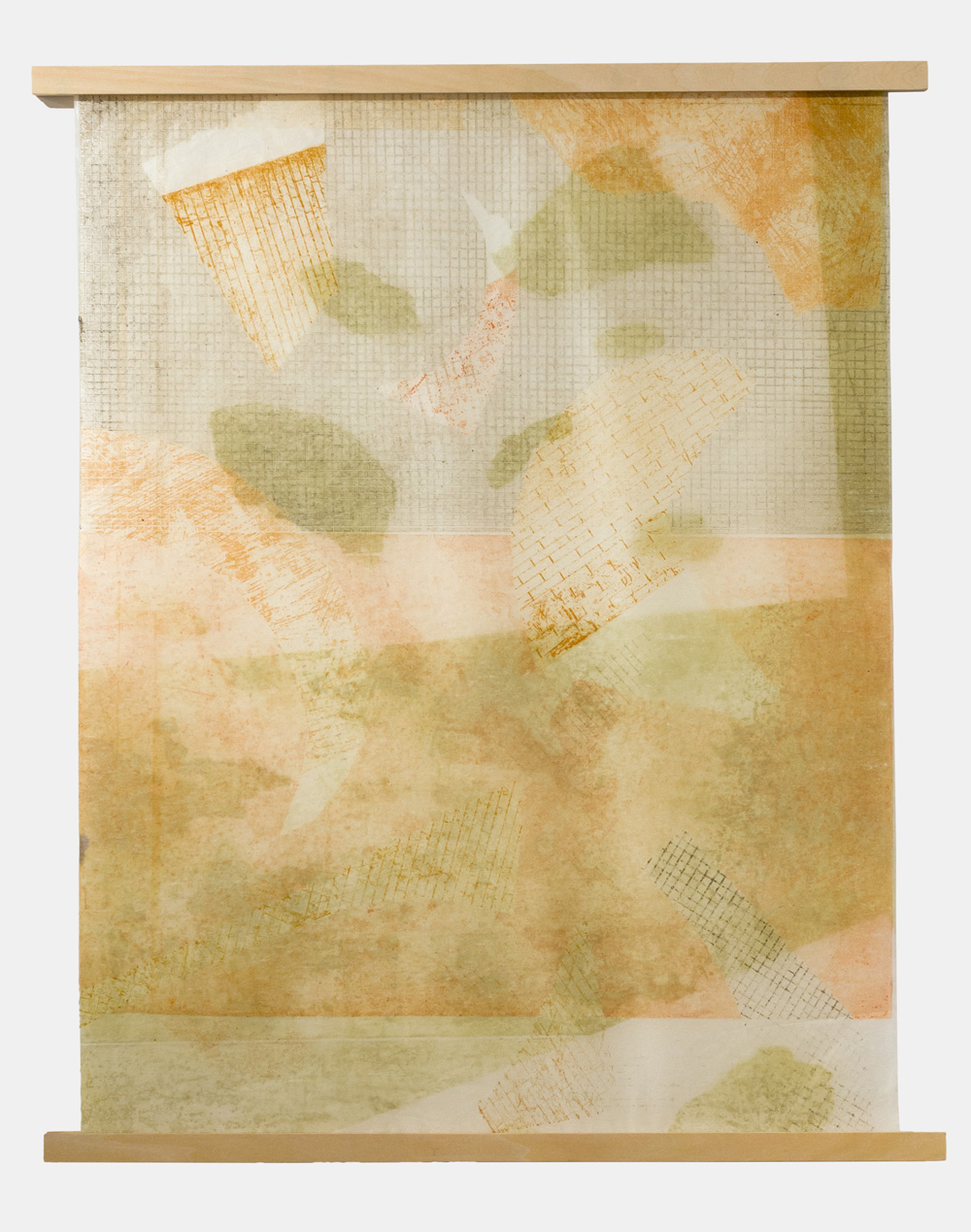 Jasmine Garrett   A Series of Glances , 2016 Etching Monotype  45.5cm x 61cm