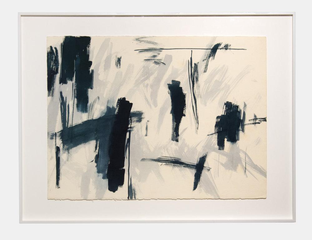Kazuyo Kinoshita   LA92-PA696 , 1992  Lacquer on paper  57.3cm × 76.9cm