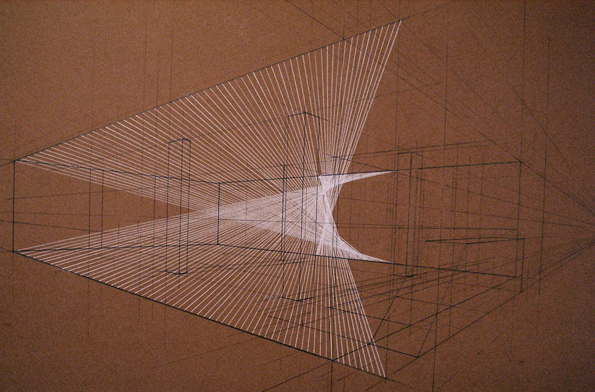 Kate Terry  'Plan for W', 2009  Pencil and coloured pencil on card  38 x 53 cm