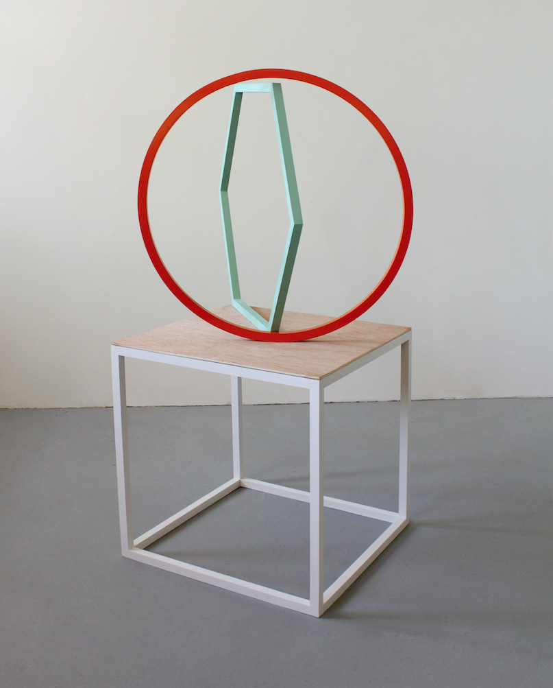 Kate Terry  'Series IX no.3', 2014  Powder coated steel, painted wood, plywood  110 x 50 x 50 cm
