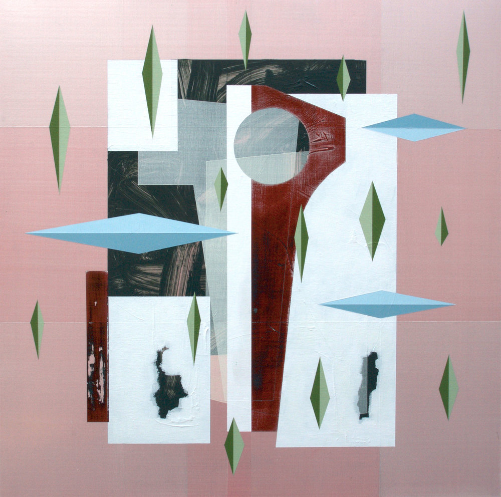 Andre Stitt   Theme from the extraction , 2016  Acrylic on wood panel  90 x 90 cm