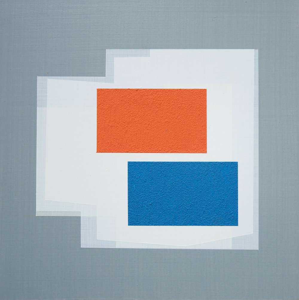 Andre Stitt  Strategic Alignment #1 (Case Study House No. 64) ', 2018 Acrylic on Wood Panel 30 x 30 cm
