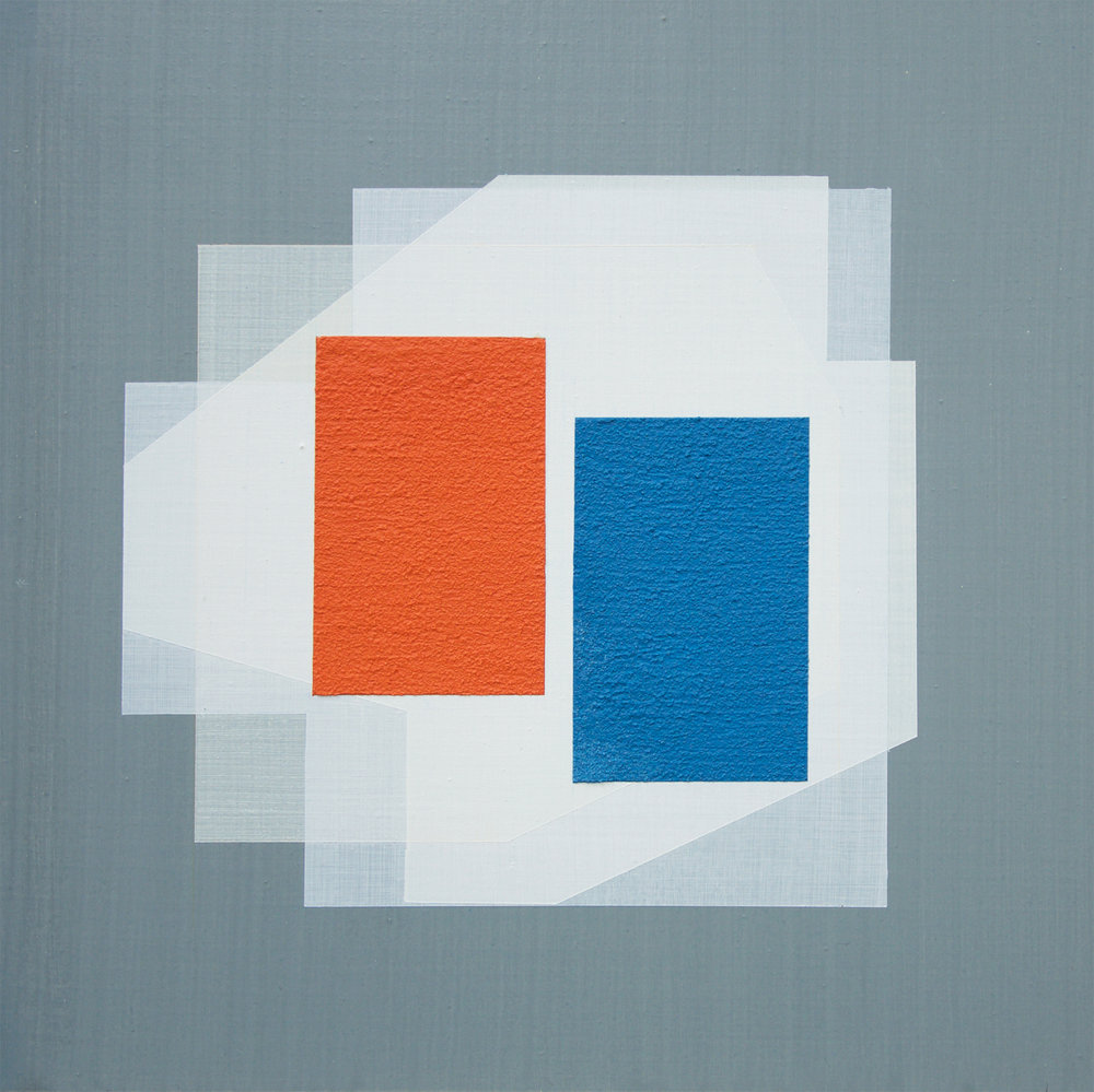 Strategic Alignment #2 (Case Study House No. 64),  2018 Acrylic on Wood Panel 30 x 30 cm