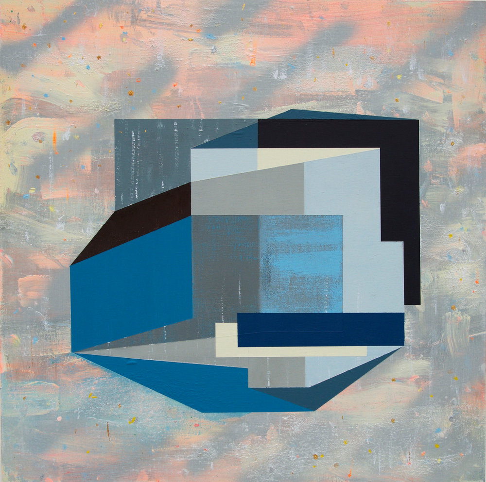 Andre Stitt  Where Once We Lived & Went,  2018  Acrylic on Wood Panel  31 x 31 cm
