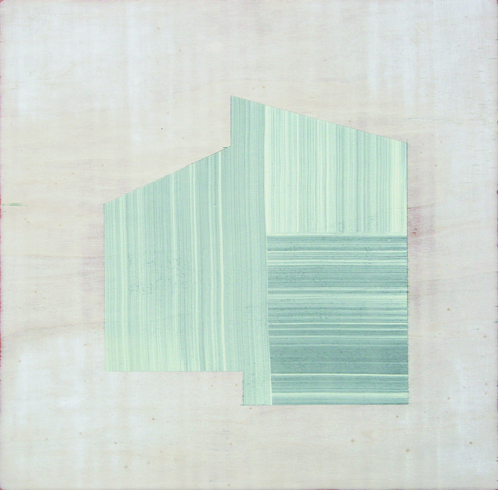 Andre Stitt  Harmony Heights , 2016  Acrylic on Wood Panel 51 x 51 cm