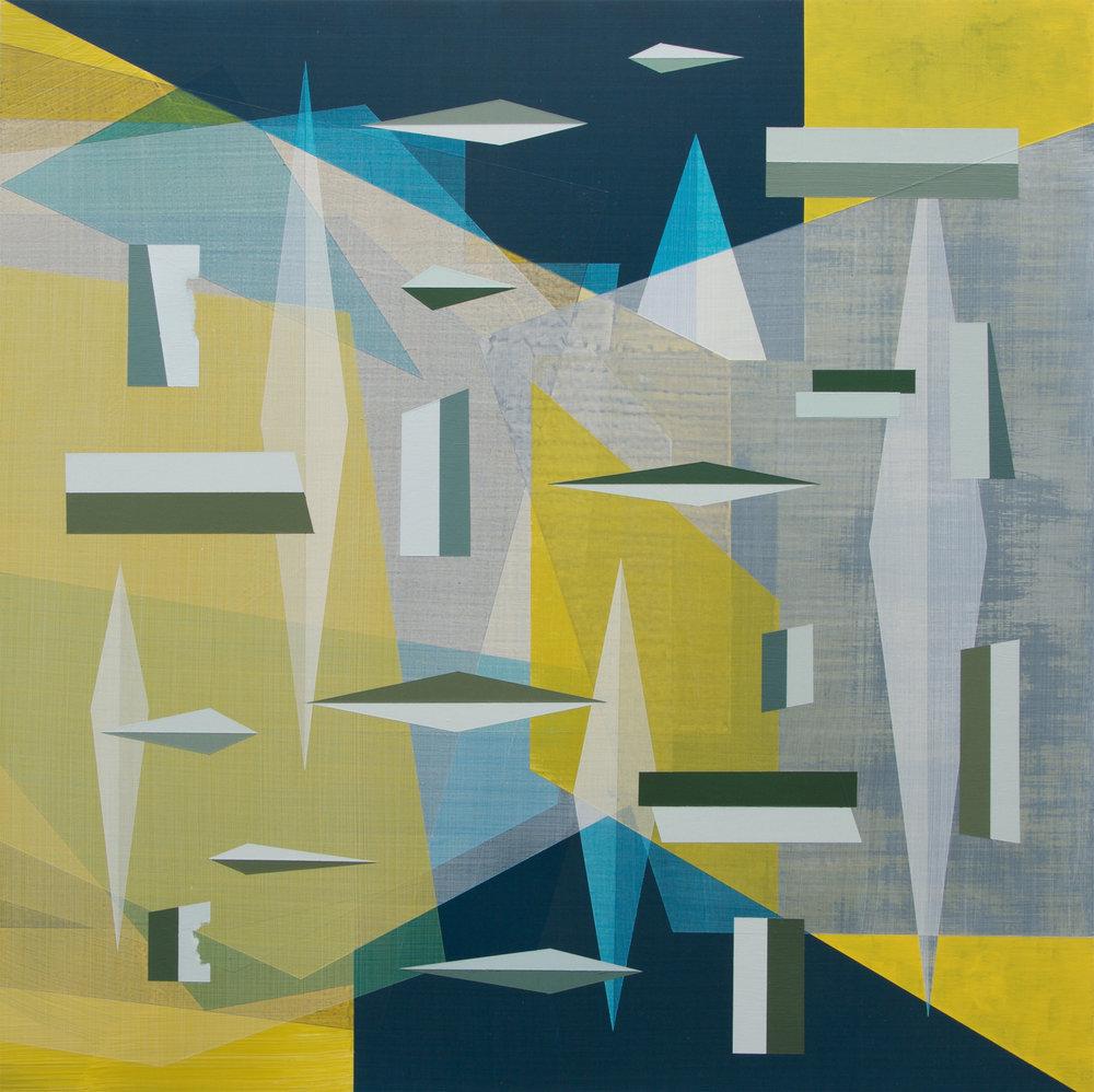 Andre Stitt  Brute Force & Militant Sunshine , 2016 Acrylic on Wood Panel 91 x 91 cm