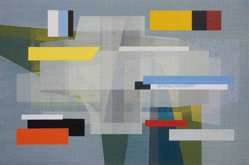 Andre Stitt  Sunday in Skem,  2017 Acrylic on Wood Panel 61 x 91 cm