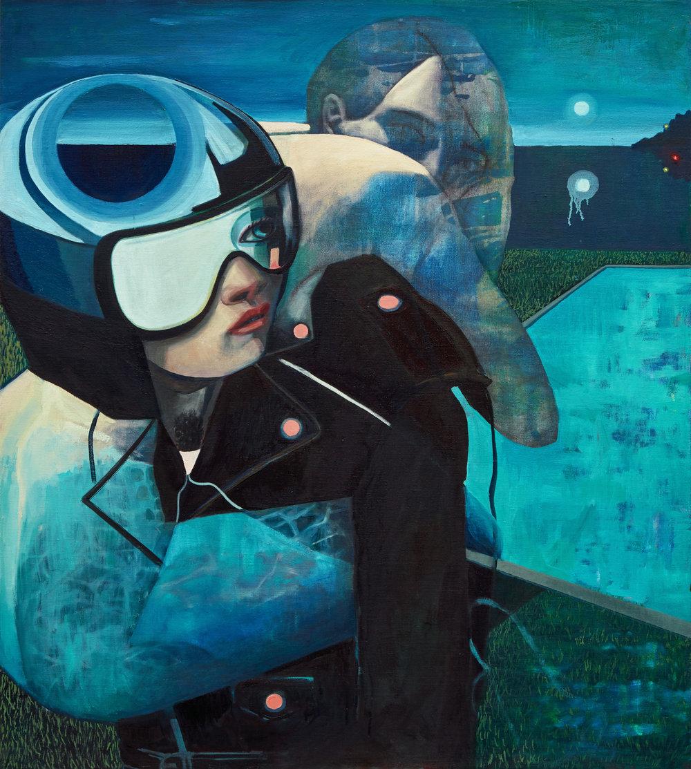 Marty Schnapf  Buoy , 2018  Oil on linen 96.52 cm x 86.36 cm.