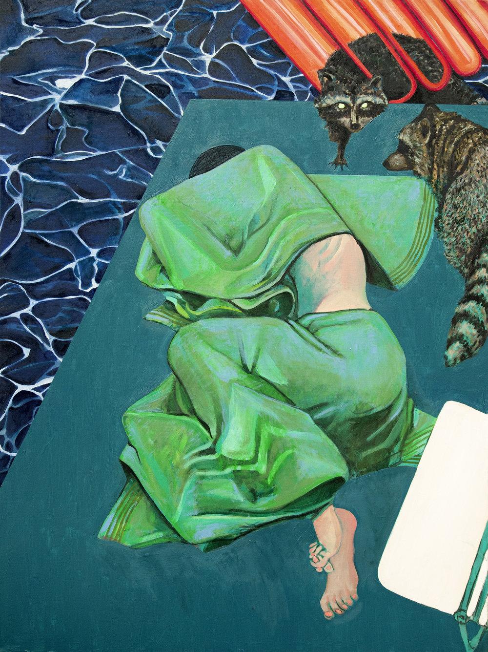 Marty Schnapf   The Visitation,  2017  Oil on canvas 101.6 cm x 76.20 cm