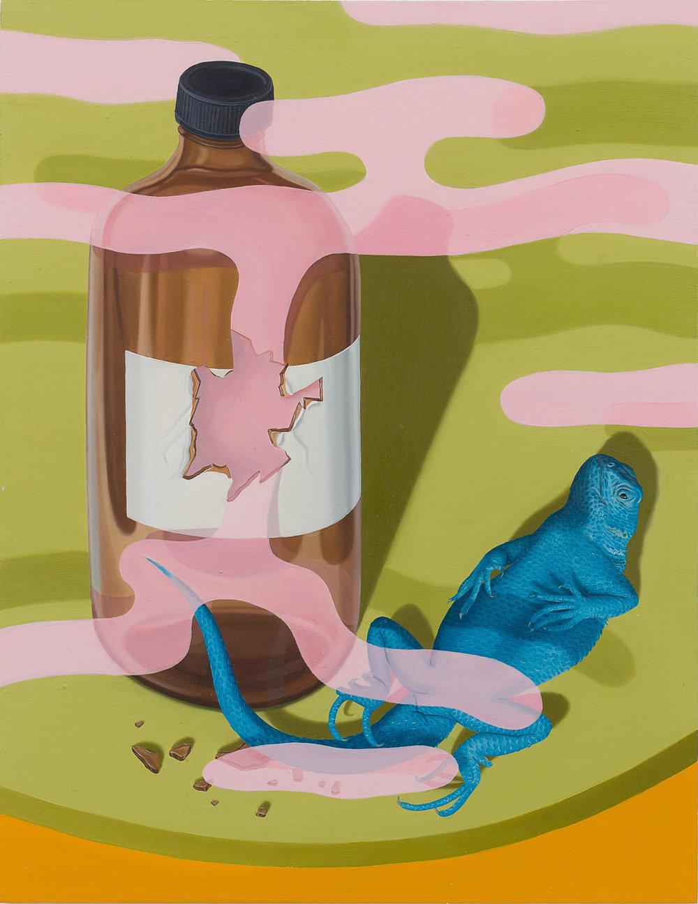 Tristan Pigott  Apparent Death,  2018 Oil on board  27.5 x 21.5 cm