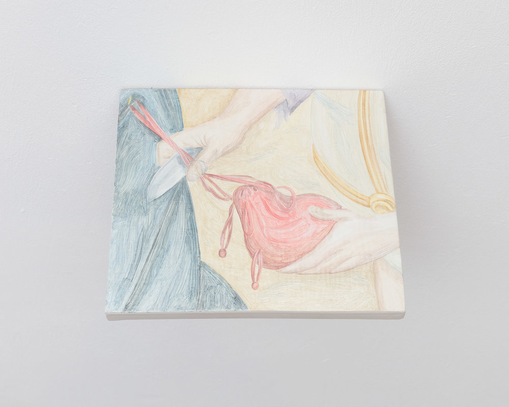 Tristan Pigott  Distracted,  2018 Oil on board 15.7 x 16 cm