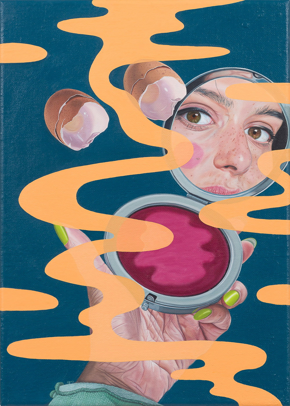 Tristan Pigott  Even a Circle is Twisted , 2018 Oil on linen 35 x 25 cm