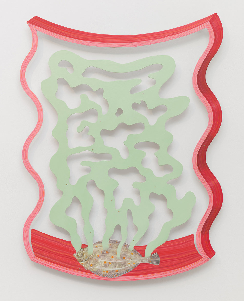 Tristan Pigott  Ceaselessly Streaming , 2018 Oil on aluminium 72 x 55.4 cm