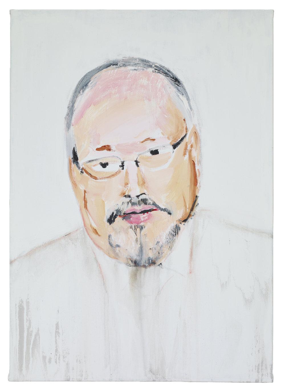 Brian Maguire  Jamil Khashoggi , 2019 Acrylic on linen 92 x 65 cm