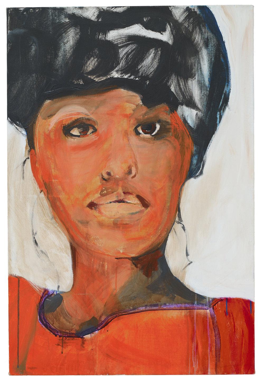 Brian Maguire  Phylis Hyman , 2019 Acrylic on linen 91 x 61 cm