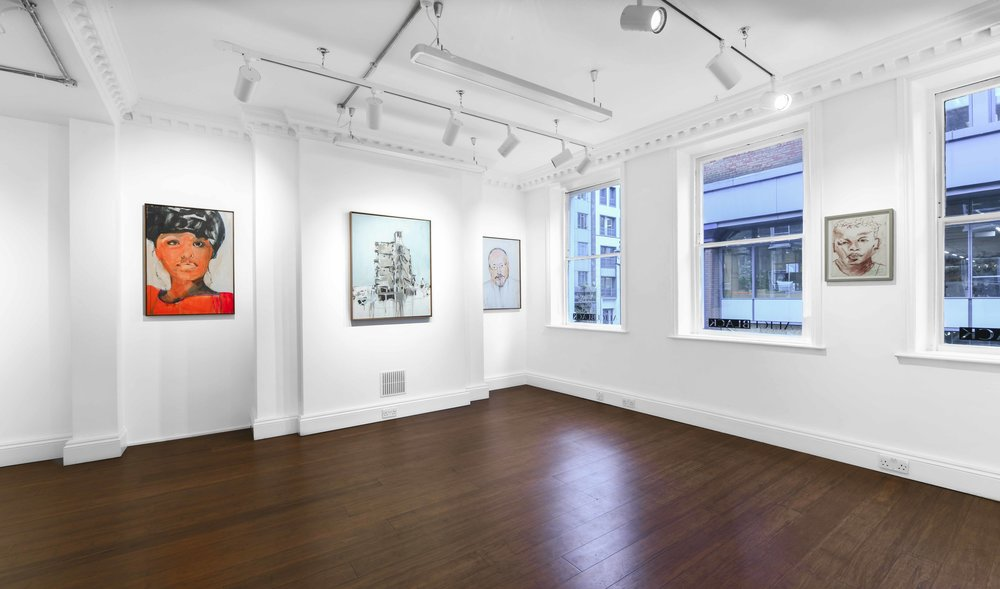 Brian Maguire 'Conflicts of Interest' 2019  ALICE BLACK   Install View 1.jpg