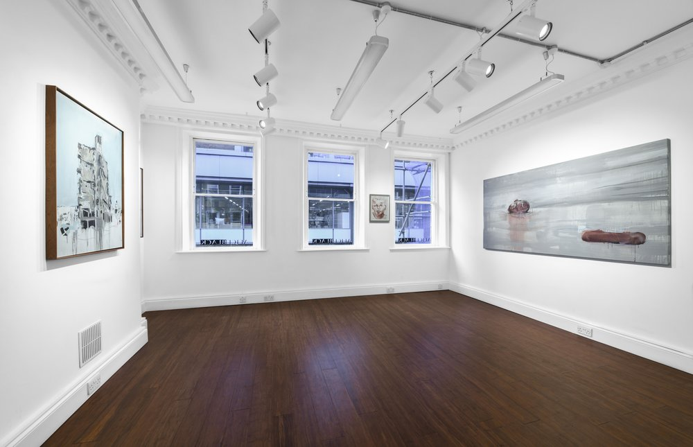 Brian Maguire 'Conflicts of Interest' 2019  ALICE BLACK   Install View 7.jpg