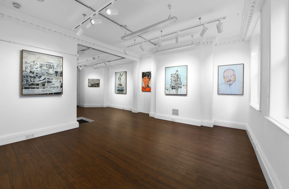 Brian Maguire 'Conflicts of Interest' 2019  ALICE BLACK   Install View 8.jpg
