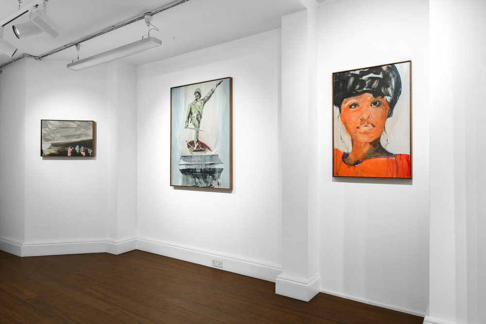 Brian Maguire 'Conflicts of Interest' 2019  ALICE BLACK   Install View 12.jpg