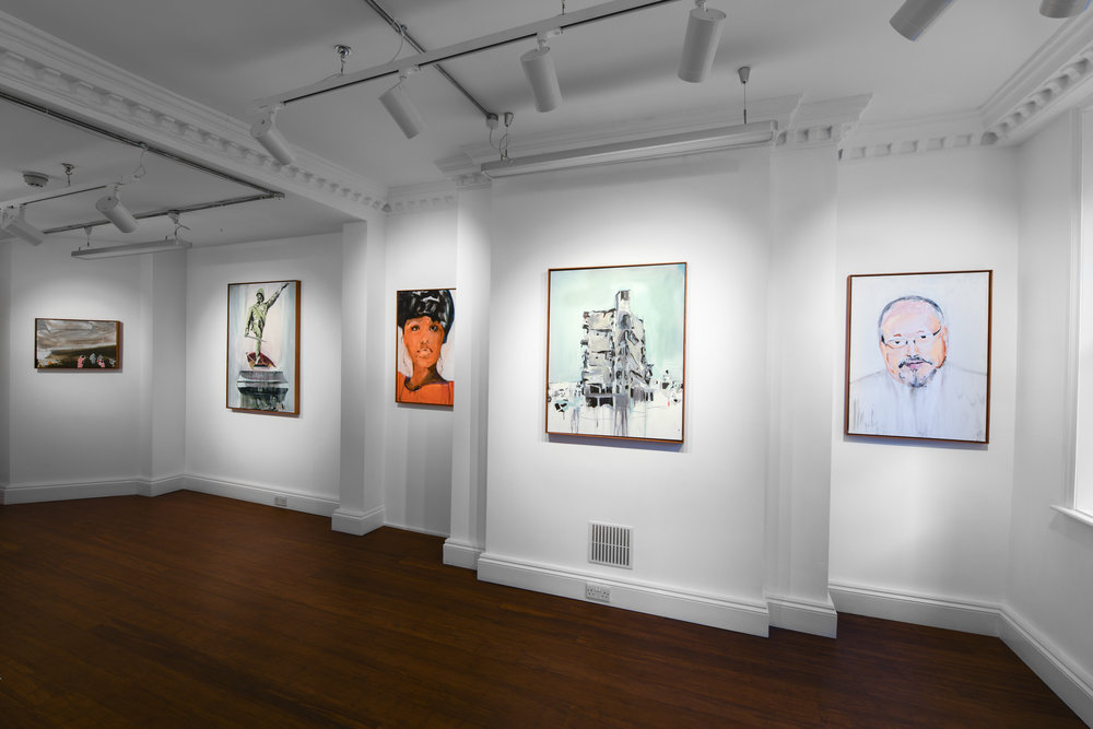 Brian Maguire 'Conflicts of Interest' 2019  ALICE BLACK   Install View 2.jpg
