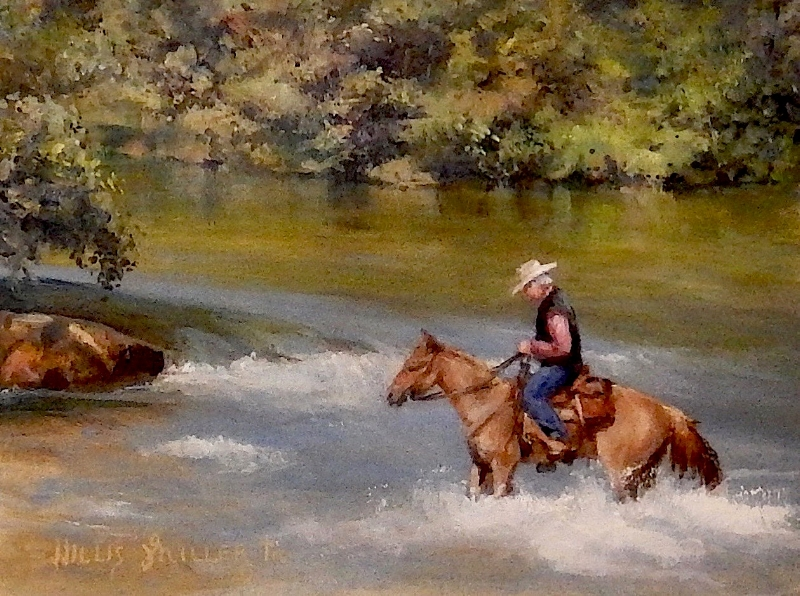 "The Wonder Of It, 9"" x 12"", oil.  This image was seen on the Buffalo River in Boxley Valley in Arkansas"