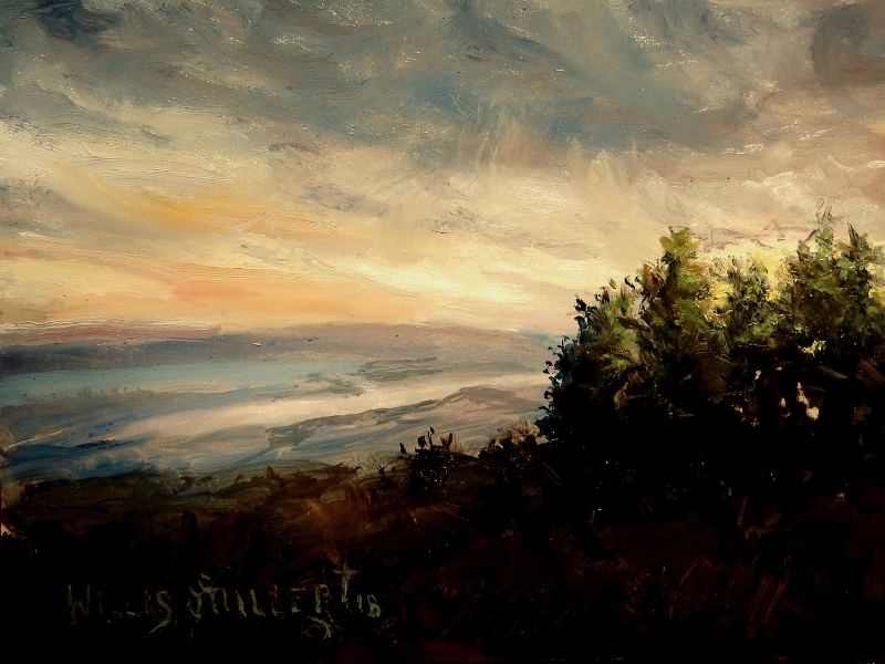 "Blessed Days, 9"" x 12"", oil.  My wife and I saw this image on Mt. Magazine.  So beautiful there."