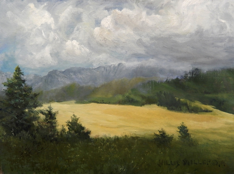 """Through Him All Things, 9"""" x 12"""". This Ropp field was seen in Germany"""