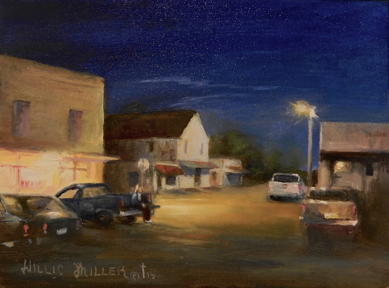 """Back In Time, 9"""" x 12"""", oil. I was plein air painting with friends in Kingston. Such a great time."""
