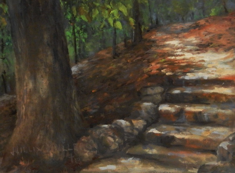 "The Narrow Path, 9"" x 12"", oil"