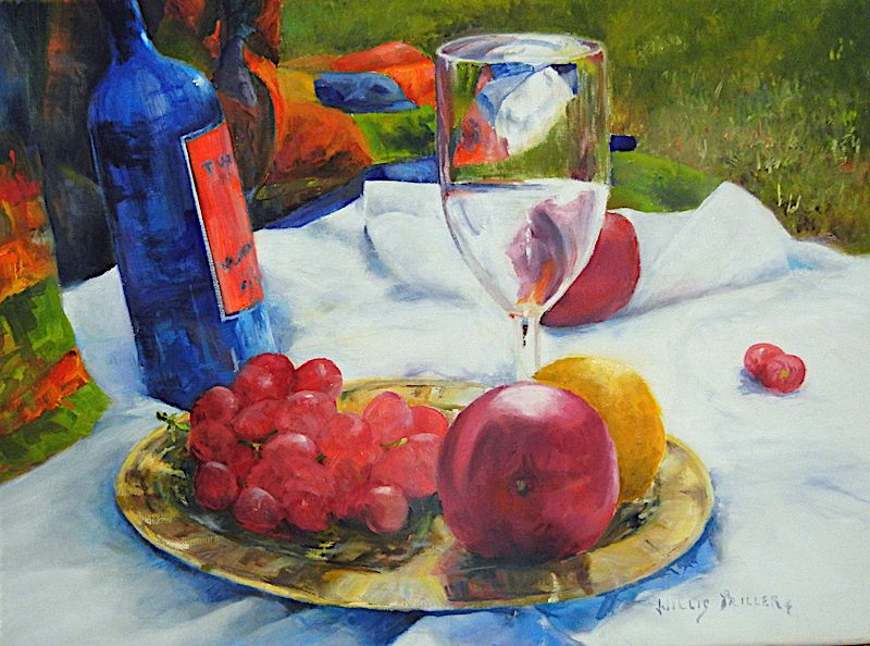 "New Wine, 18"" x 24"", oil."